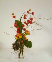 Chinese Lanterns Bouquet, delivered to Tiburon