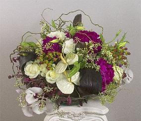 celebration floral centerpiece, large and luscious, by Yukiko, Ross