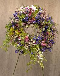 Large wreath for funeral and memorial services