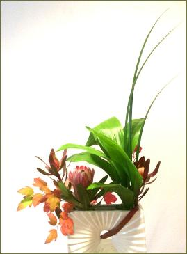 Protea Ikebana with branches