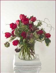 Romantic Bouquet of Roses and Tulips by Yukiko, delivered to Mill Valley
