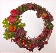 original wreath design of Marin County flowers