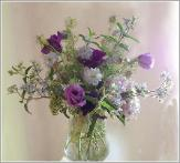 summer bouquet tweetia lovein-the-mist lisianthus hydrangia